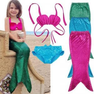 3pcs. Swimmable Mermaid Outfit For Little Girl - Balma Home