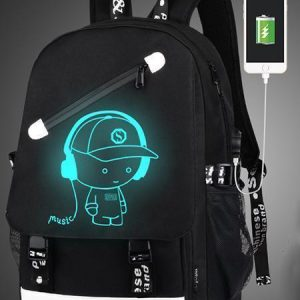 Boys School Charging Backpack Student Luminous Animation Usb Charge Changeover Joint - Balma Home